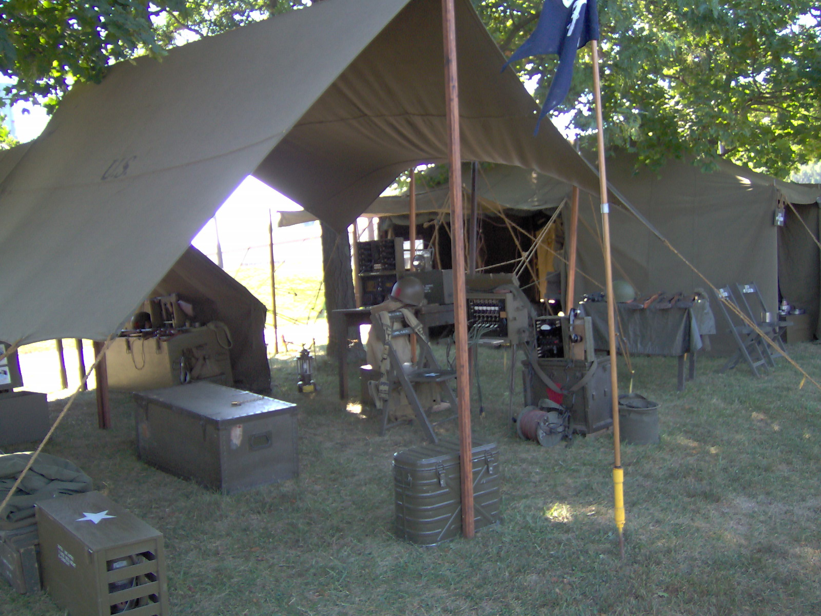 Communications Tent & The Reenactor Post World War II living history at the Trolley ...