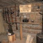 Inside recreated bunker