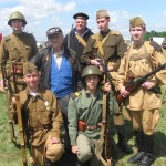 With a real WWII hero!